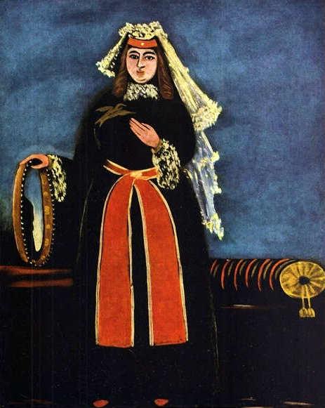 1906, ქართველი ქალი დაირით, ფიროსმანი
