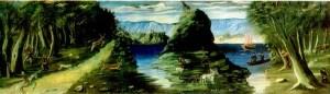 1912, ნადირობის სცენა შავი ზღვის ხედზე
