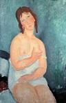 წითელთმიანი ახალგაზრდა ქალი, 1918