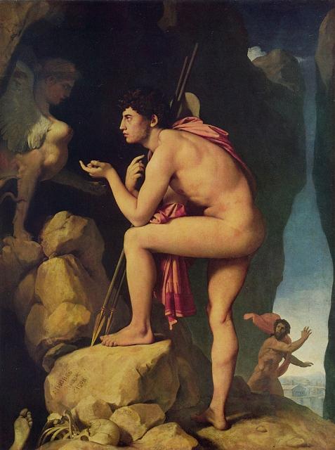 ოიდიპოსი და სფინქსი, ინგრესი, 1808 წელი