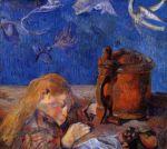 მძინარე კლოვის გოგენი, პოლ გოგენი, 1884