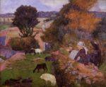 ბრეტონელი მწყემსები, პოლ გოგენი, 1886