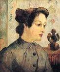 ქალი დახვეული თმებით, პოლ გოგენი, 1886
