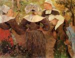ოთხი ბრეტონელი ქალი, პოლ გოგენი, 1886