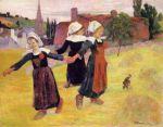 ბრეტონელი მოცეკვავე გოგონები, პოლ გოგენი, 1888