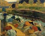 მრეცხავები რუბინ დიუ რუაზე, არლი, პოლ გოგენი, 1888