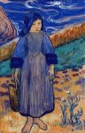 1889, ბრეტონელი გოგონა ზღვაზე. პოლ გოგენი. Paul Gauguin