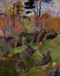 1889, ბრეტონული პეიზაჟი. პოლ გოგენი. Paul Gauguin