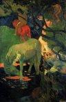 1889, თეთრი ცხენი. პოლ გოგენი. Paul Gauguin