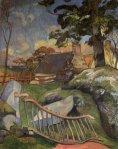 1889, კარები, საღორე. პოლ გოგენი. Paul Gauguin
