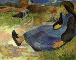 1889, მჯდომარე ბრეტონელი გოგონა. პოლ გოგენი. Paul Gauguin