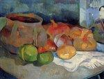 1889, ნატურმორტი ნივრით, ხახვით და იაპონური პრინტით. პოლ გოგენი. Paul Gauguin