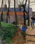 1890, სახლები ლე პულდიუში. პოლ გოგენი. Paul Gauguin