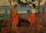 1891, Beneath the Pandanus Tree, I rara te oviri. პოლ გოგენი. Paul Gauguin