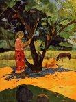 1891, ლიმონების კრეფვა, Mau Taporo. პოლ გოგენი. Paul Gauguin