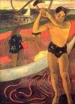 1891, მამაკაცი ნაჯახით. პოლ გოგენი. Paul Gauguin