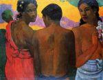 1899, საუბარი ტაიტიზე. პოლ გოგენი. Paul Gauguin