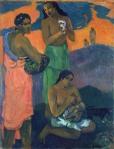 1899, ქალები ზღვის ნაპირას, დედაშვილობა. პოლ გოგენი. Paul Gauguin