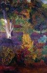1901, მარკიზის პეიზაჟი ცხენით. პოლ გოგენი. Paul Gauguin