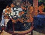 1901, ნატურმორტი მზესუმზირები. პოლ გოგენი. Paul Gauguin