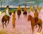 1902, მხედრები ნაპირზე. პოლ გოგენი. Paul Gauguin