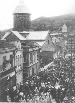 ილიას დაკრძალვა თბილისში, 1907 წ.