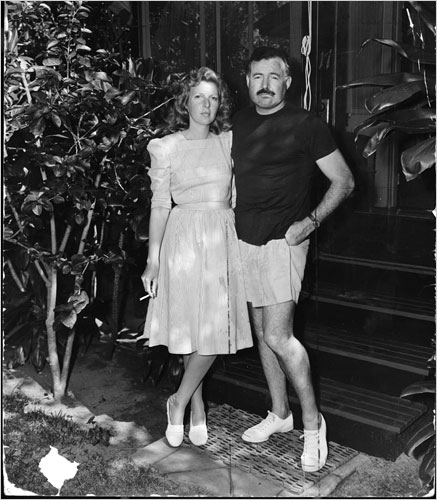 Ernest Hemingway with Martha Gellhorn on their honeymoon in Honolulu in 1940