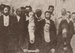 ილია ჭავჭავაძე პირველ რიგში, (მარცხნიდან მეორე) გრაფ ვორონცოვ-დაშკოვთან მიღებაზე