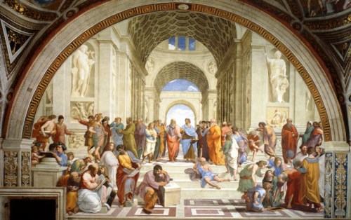 1510-11, The School of Athens (from the Stanza della Segnatura),  fresco, The Vatican2