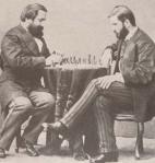 ილია ჭავჭავაძე და ივანე მაჩაბელი ჭადრაკის თამაშის დროს, პეტერბურგი, 1973 წ. ფოტოგრაფი კ. ფოსტი
