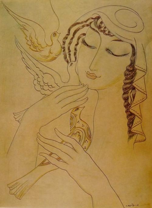 სიზმრის ჩიტები, ლადო გუდიაშვილი – Birds of Dream. Lado Gudiashvili. 1965 წ.