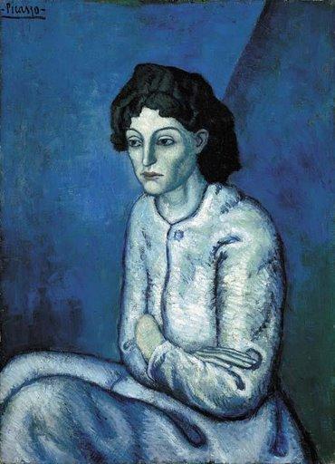 1901, ქალი გადაჯვარედინებული ხელებით, Pablo Picasso
