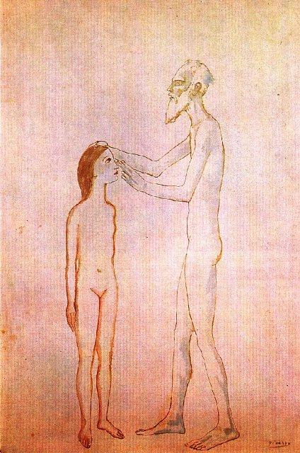 1904, L'aueugle et la jeune fille, პაბლო პიკასო