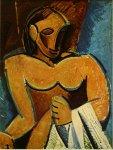 Nu a la serviette. Winter 1907. Pablo Picasso