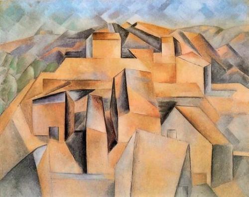 1909, Houses on the Hill, Horta de Ebro, პაბლო პიკასო