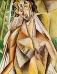 შიშველი სავარძელში - Nude in an Armchair (Seated Woman), 1909. Pablo Picasso