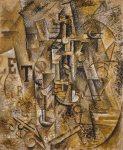 ნატურმორტი - Still Life with a Bottle of Rum, Summer. Pablo Picasso. 1911