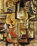 Violin and Grapes. Pablo Picasso. 1912