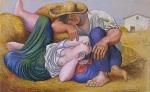 1919, მძინარე გლეხები, Pablo Picasso