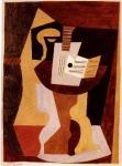 Guitare et parition sur gueridon. 1920. Pablo Picasso
