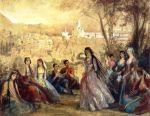 ბაღები თბილისის მახლობლად, ცეკვა, 1840-იანი წლები