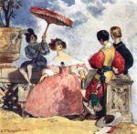 ესპანელი ქალის წინ, 1833 წ. ა. პუშკინის ლექსის ილუსტრაცია