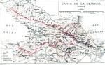 ივანე ჯავახიშვილის მიერ 1919 წელს შედგენილი საქართველოს რუქა