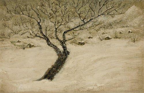 ზამთარში ხე, ელენე ახვლედიანი; Winter, Elene Akhvlediani, 1921