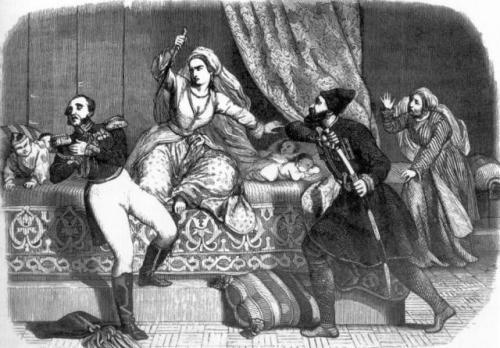 მარიამ დედოფალი ხანჯლით ჰკლავს გენერალ ი. პ. ლაზარევს, 1803 წ.