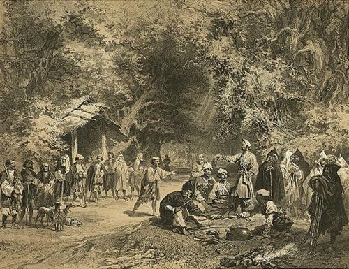 სამეგრელო, მეგრელი მონადირენი, გრიგოლ გაგარინი, 1847