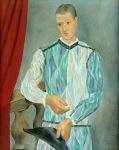 L'arlequin de Barcelone. 1917, Pablo Picasso