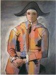 Arlequin, les mains croisees (Jacinto Salvado). 1923. Pablo Picasso