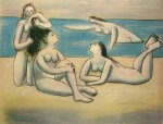 Baigneuses. Summer 1920. Picasso, 57.5 x 72 cm. Pastel. Knoed