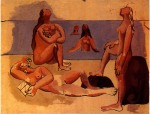 Cinq baigneuses. Summer 1920. Picasso,. 72.5 x 92.5 cm. Oil on